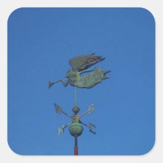 Angel Weather Vane Square Sticker