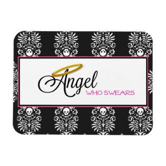 Angel Who Swears Rectangular Magnet