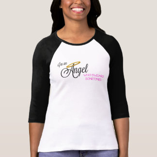 Angel Who Swears Sometimes 3/4 sleeve T-Shirt