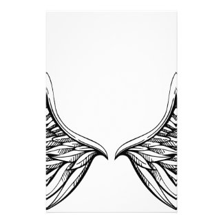Angel Wing Drawing Graphic Stationery