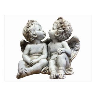 Angel Wing Fairytale Feelings Female Statue Love Postcard