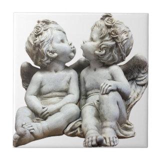 Angel Wing Fairytale Feelings Female Statue Love Tile