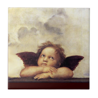 ANGEL / Winged Cherub Small Square Tile