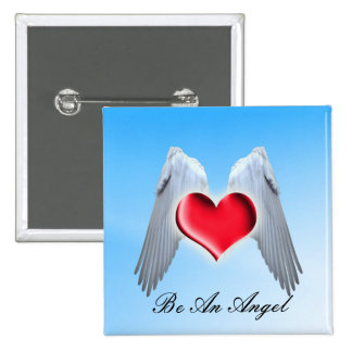 Angel Wings 15 Cm Square Badge