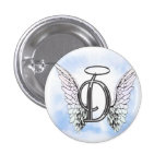 Angel Wings and Halo Monogram Letter D Pins