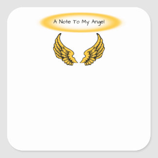 Angel Wings and Halos Customize Square Sticker