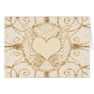 Angel Wings and Heart Card