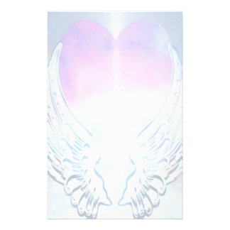 Angel Wings Background Stationery