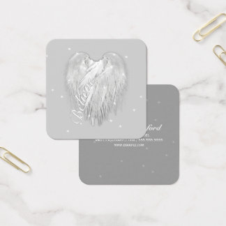 ANGEL WINGS 'Believe' Magic Heart Square Business Card