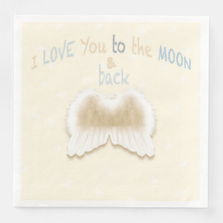 Angel Wings Dinner Paper Napkins