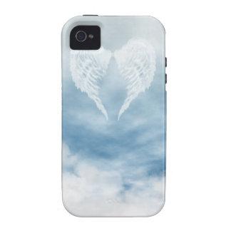 Angel Wings in Cloudy Blue Sky iPhone 4 Case