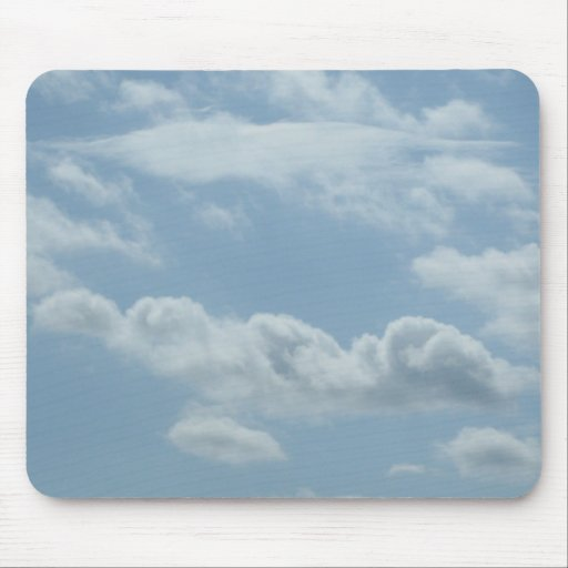 ANGEL WINGS IN THE CLOUDS MOUSE PAD