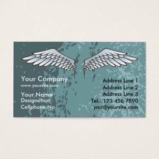 Angel Wings Muddy Blue Business Card