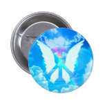 Angel Wings & Peace 6 Cm Round Badge