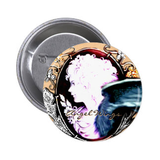 Angel Wings Promotional Band Button Buttons