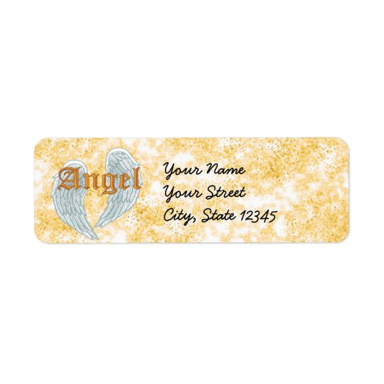Angel  Wings Return Address Label