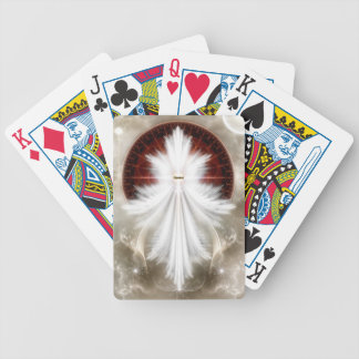 Angel Wings Snowflake Fractal Art Bicycle Playing Cards