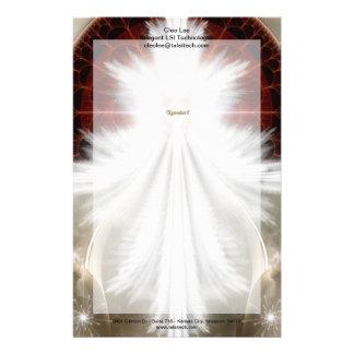 Angel Wings Snowflake Fractal Art Stationery Paper