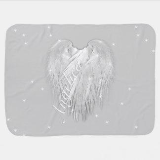 ANGEL WINGS Sparkle Heart Baby Blanket