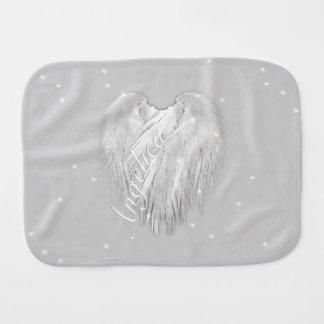ANGEL WINGS Sparkle Heart Burp Cloth