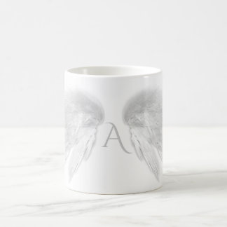 ANGEL WINGS White Monogram Coffee Mug