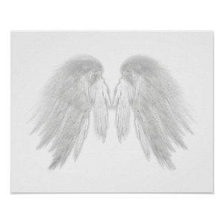 ANGEL WINGS White Poster
