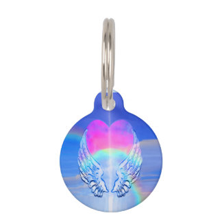 Angel Wings Wrapped Around a Heart Pet Tag