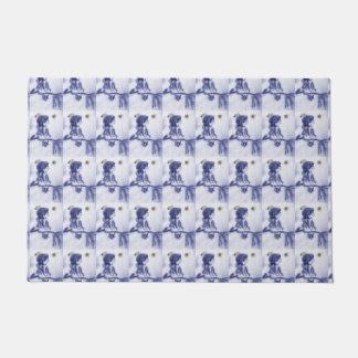 Angel Wishing On A Star - Blue Tint Doormat