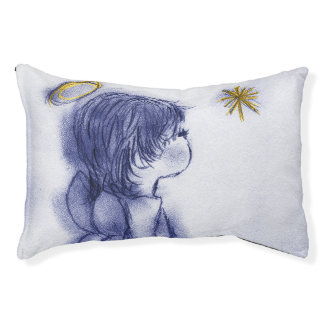 Angel Wishing On A Star - Blue Tint Pet Bed
