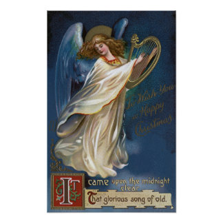 Angel with a Harp Poster