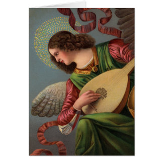 Angel with a Lute Card
