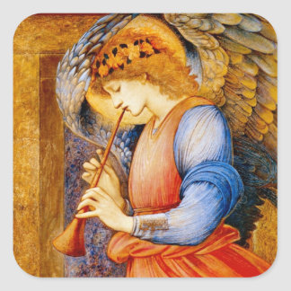 Angel With a Trumpet Square Sticker