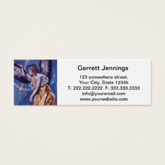 angel with a white dove mini business card
