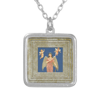 Angel With Angels Silver Plated Necklace