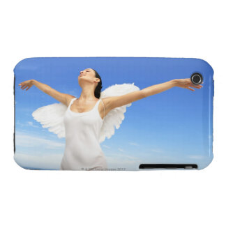 Angel with arms outstretched and eyes closed iPhone 3 Case-Mate cases