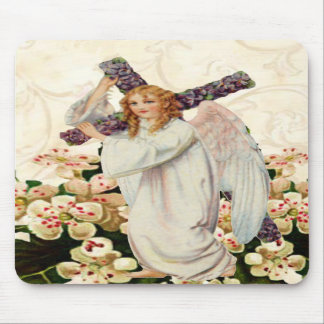 Angel With Cross Mouse Pad