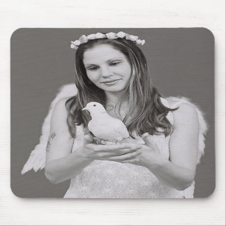 Angel with Dove Mouse Pad