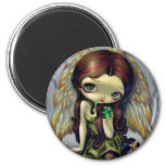 """Angel with Emeralds"" Magnet"