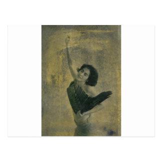 Angel with Harp Postcard