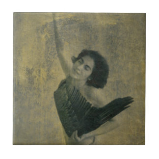 Angel with Harp Tile