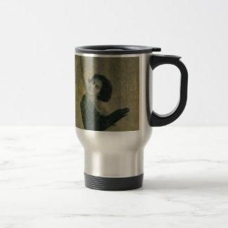 Angel with Harp Travel Mug