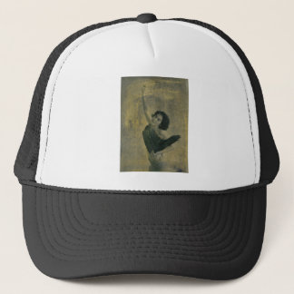 Angel with Harp Trucker Hat