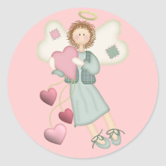 Angel with Hearts Stickers