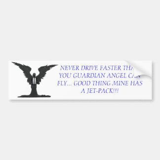 ANGEL WITH JET-PACK BUMPER STICKER
