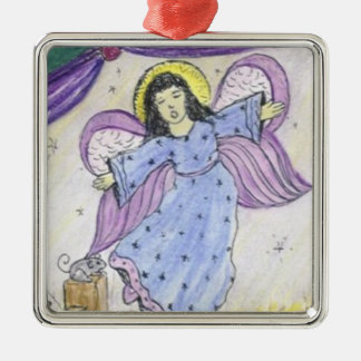 Angel with mouse CHRISTmas ornament