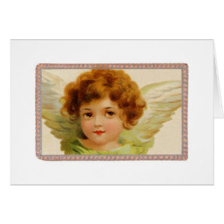Angel With Prayer Note Card