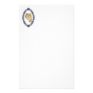 Angel With Purple Decorations Stationery