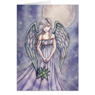 Angel With Star Ornament Card by Molly Harrison