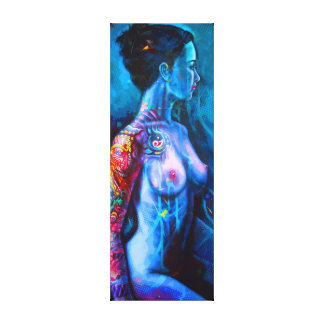 Angel with tattoo canvas print