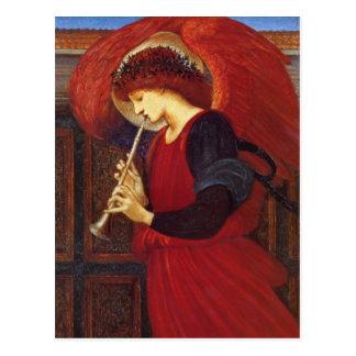 Angel with Trumpet, Burne-Jones Fine Art Postcard